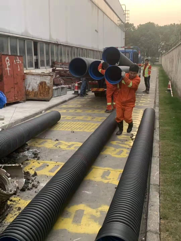卢湾管道开槽修复